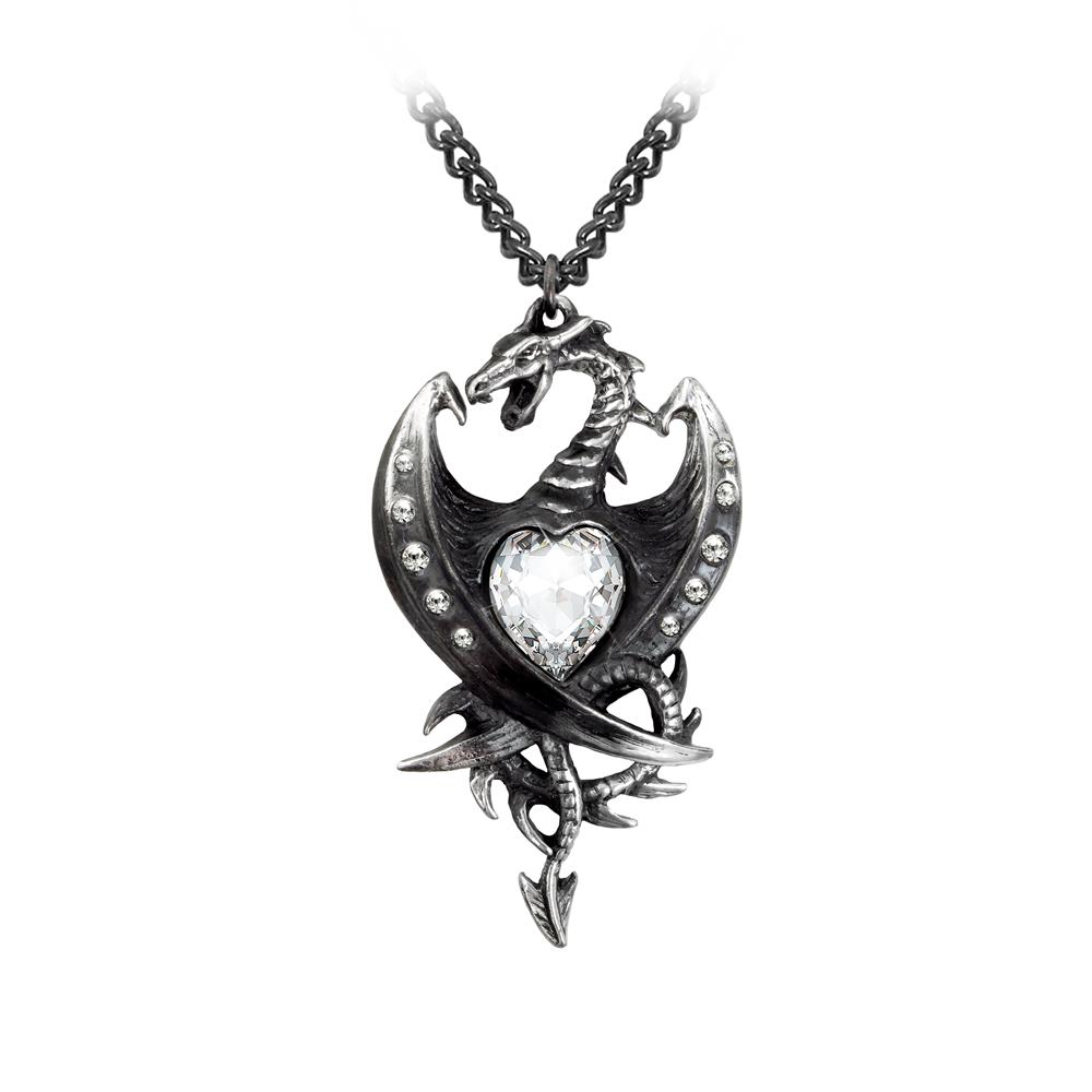 Alchemy Gothic Diamond Heart - Kaulakoru