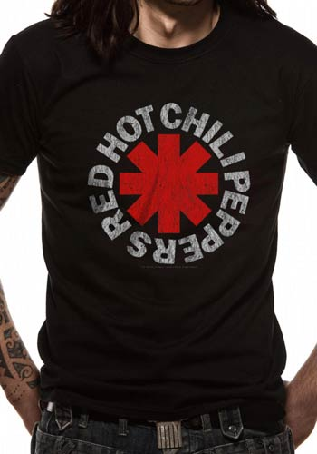 Bändipaidat Red Hot Chili Peppers Distressed Asterisk - T-paita