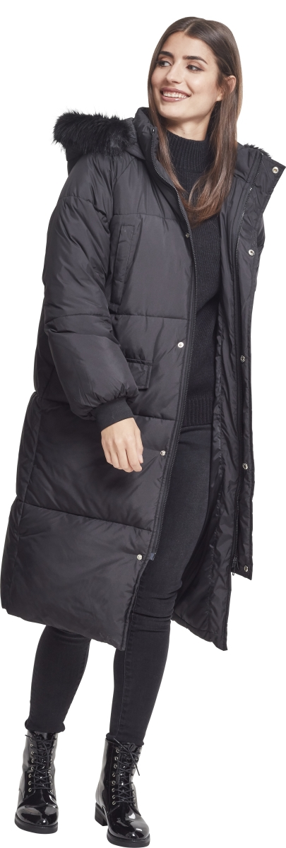 Urban Classics Oversize Faux Fur Puffer Naisten talvitakki