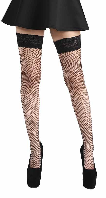 Large Net Lace Top Hold Ups - Sukat