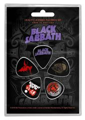 Black Sabbath Purple Logo - Plektrasetti 5kpl