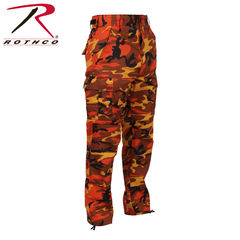 Rothco Color Camo BDU - Reisitaskuhousut, savage orange