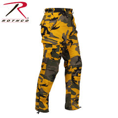 Rothco Color Camo BDU - Reisitaskuhousut, stinger yellow