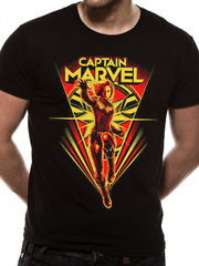 Captain Marvel Flying V - T-paita