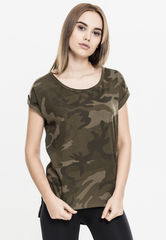 Urban Classics Camo Back Shaped - T-paita, olive camo