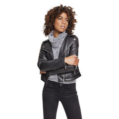 Urban Classics Faux Leather Biker - Keinonahkatakki