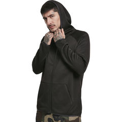 Urban Classics Knit Fleece Zip - Huppari, musta