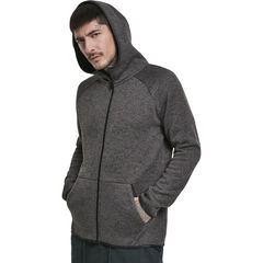Urban Classics Knit Fleece Zip - Huppari, hiilenharmaa