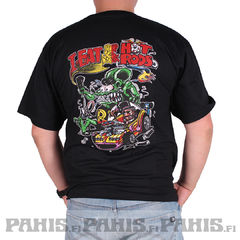 Rat Fink Eat Drink Sleep  - T-Paita