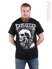 The Exploited Mohican Skull - T-paita