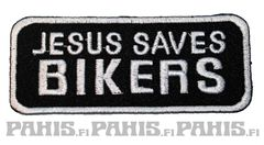 Jesus Saves Bikers - Kangasmerkki