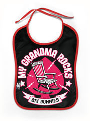 Six Bunnies Grandma Rocks - Ruokalappu
