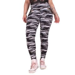 City Camo Zipper - Legginsit