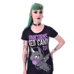 Cupcake Cult Unicorns Need Candy - T-paita