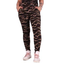 Wood Camo Zipper - Legginsit