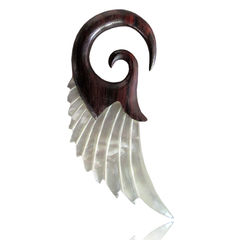 Wooden Shell Wing Spiral