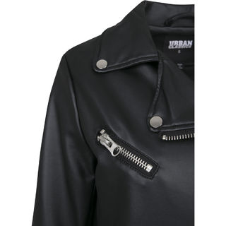 ZAKASA Girls Leather Jacket PU Motorcycle Faux Leather Moto Biker Jackets Childrens Outerwear Fashion Slim Coat 3-12 Years