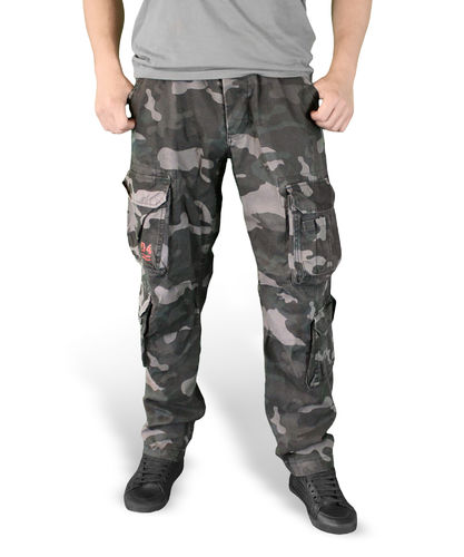 Surplus Airborne Slimmy - Reisitaskuhousut, Black Camo