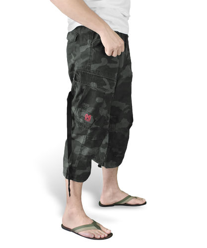 Surplus Engineer 3/4 - Shortsit, Black Camo