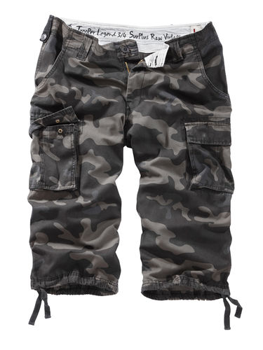 Surplus Trooper 3/4 - Shortsit, Black Camo