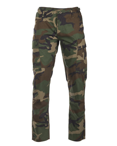 Mil-Tec US BDU kenttähousut - woodland, Slim Fit