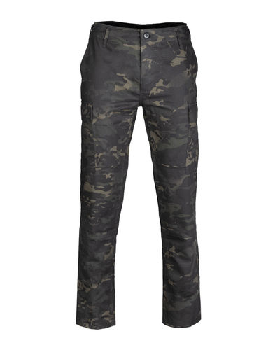 Mil-Tec US BDU kenttähousut - black camo, Slim Fit