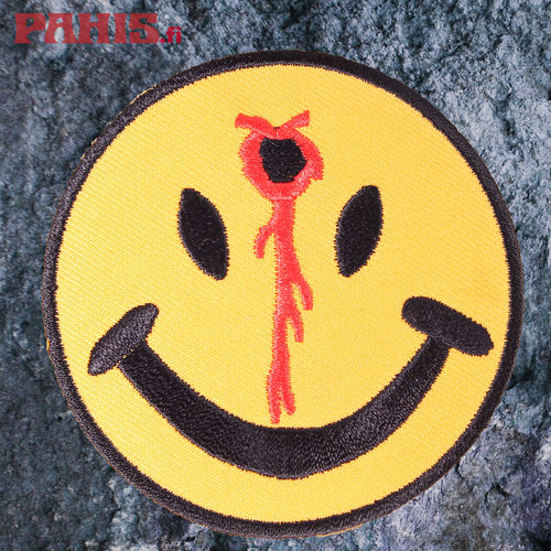 Bleeding Smiley Face - Kangasmerkki