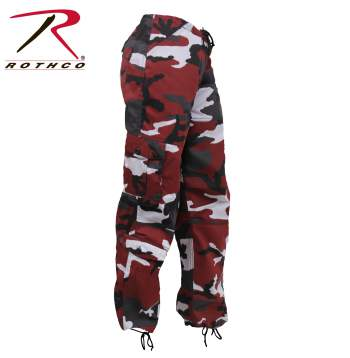 Rothco Paratrooper Colored Camo - Naisten reisitaskuhousut, red camo