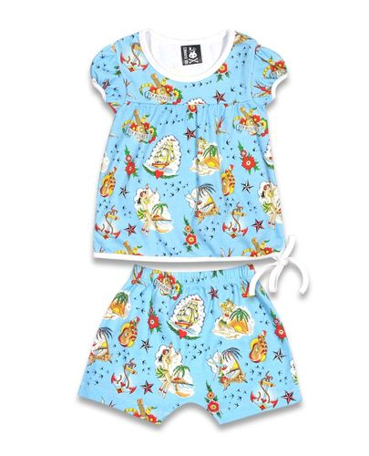 Six Bunnies Aloha Sailor - Shortsi pyjama