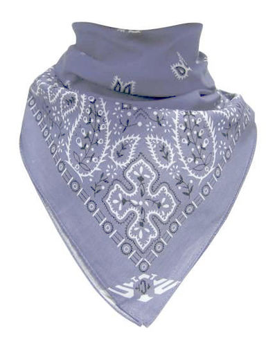 Paisley Light Blue - Bandana huivi