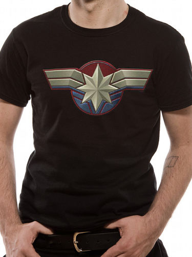 Captain Marvel Chest Emblem - T-paita