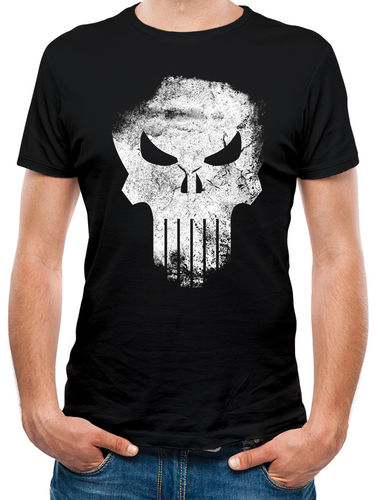 Marvel Knights Punisher Distressed Skull - T-paita