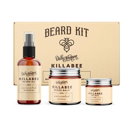 Dick Johnson Killabee Beard Kit Natural - Lahjapakkaus