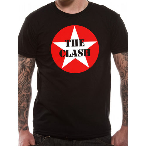 The Clash Star Badge - T-paita