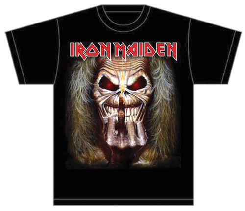 Iron Maiden Eddie Candle Finger - T-paita