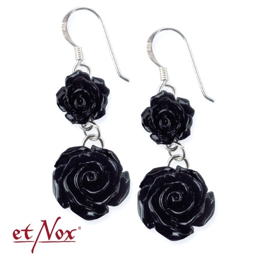 etNox Big Black Rose - Korvakorut