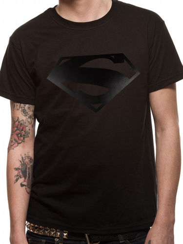 Superman Black On Black - T-paita