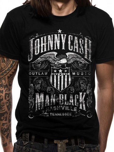 Johnny Cash Label - T- paita