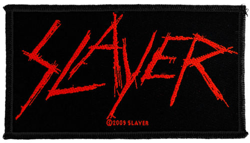 Slayer Scratched Logo - Kangasmerkki