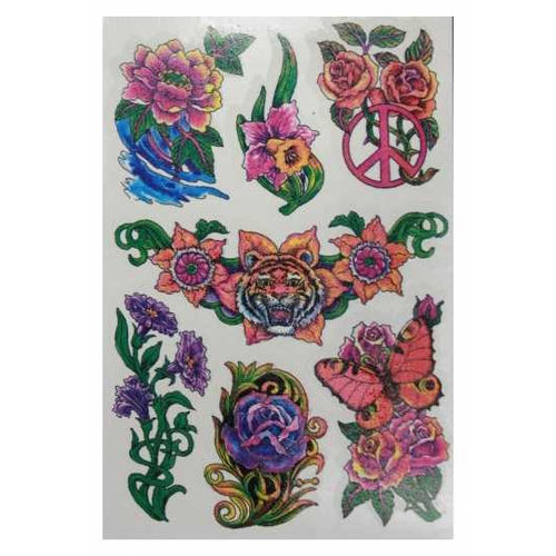 Tattoo sticker flower - siirtotatuointi
