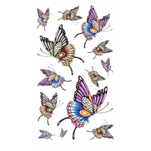Tattoo sticker butterfly - siirtotatuointi