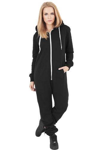 Urban Classics Sweat Jumpsuit - Collegehaalari, musta