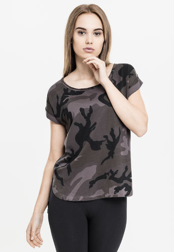 Urban Classics Camo Back Shaped - T-paita, darkcamo
