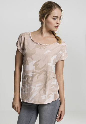 Urban Classics Camo Back Shaped - T-paita, rose camo