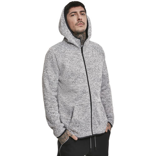 Urban Classics Knit Fleece Zip - Huppari, harmaa