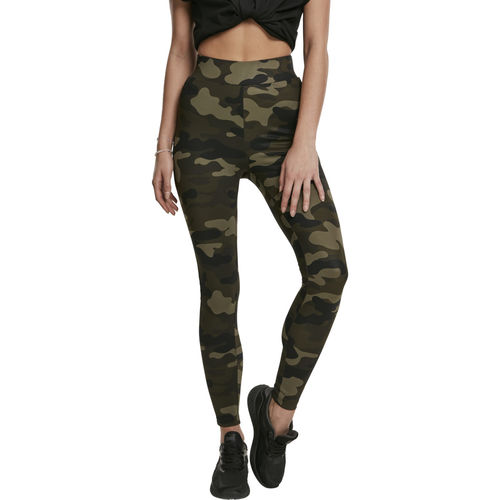 Urban Classics High Waist Camo Tech- legginsit, woodcamo