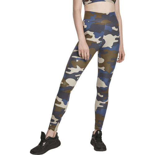 Urban Classics High Waist Camo Tech- legginsit, summerolive camo