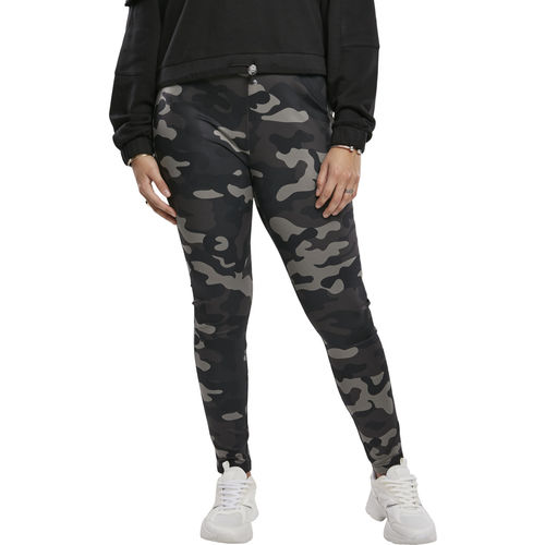 Urban Classics High Waist Camo Tech- legginsit, darkcamo