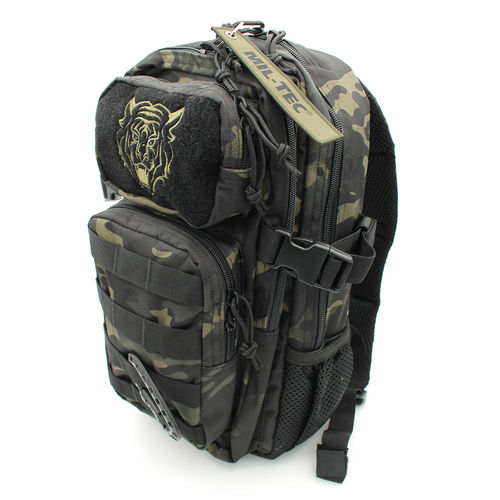 US Assault Multitarn Lasten reppu - Black camo, 14l