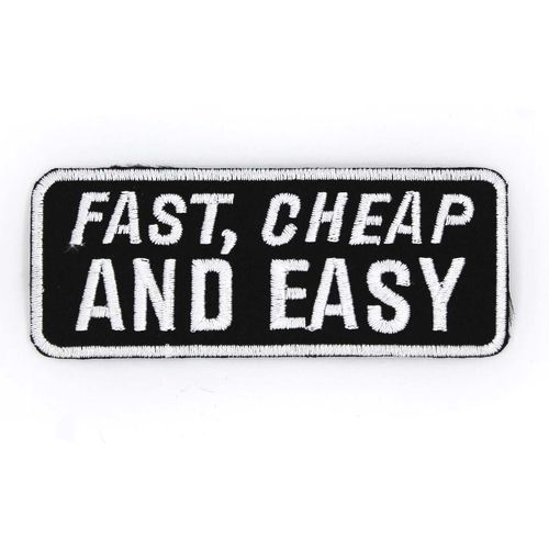 Fast, cheap and easy - Kangasmerkki